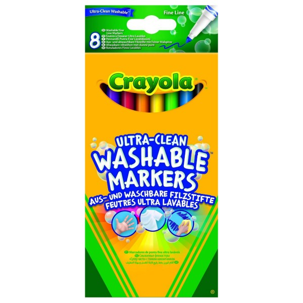 Lot de 8 feutres à dessiner ultra lavables - Crayola-58-8330-E-000