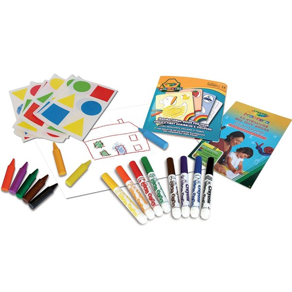 crayola mon premier coffret de coloriage et de gommettes mini kids