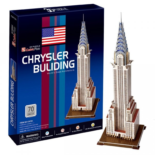Puzzle 3D 70 pièces : Chrysler Building, New York - Cubic-77745
