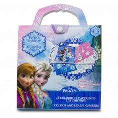 pochette scrapbooking la reine de neiges je colorie et japprends les chiffres