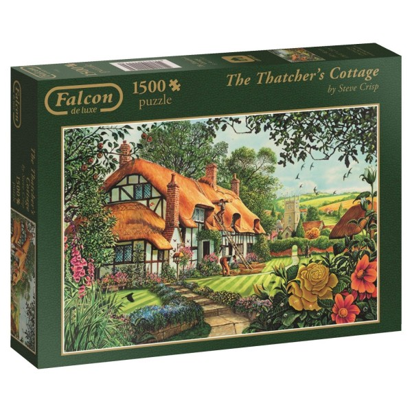 Puzzle 1500 pièces : The Thatcher's Cottage - Diset-11113