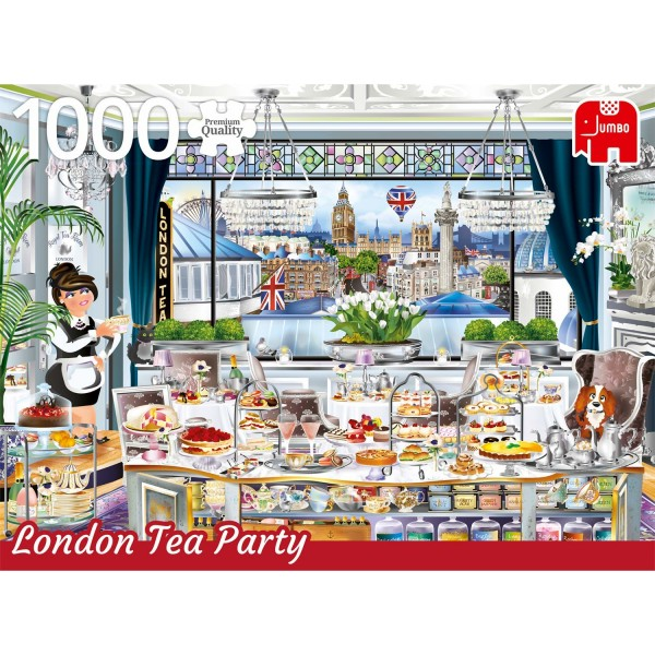 Puzzle 1000 pièces : Tea Party : Londres - Diset-18808