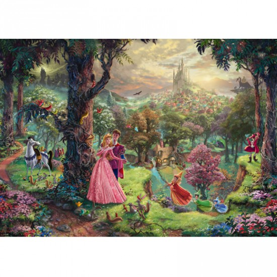 puzzle 1000 pi ces disney la belle au bois dormant. Black Bedroom Furniture Sets. Home Design Ideas