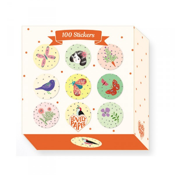 100 Stickers : Chichi Huang - Djeco-DD03702