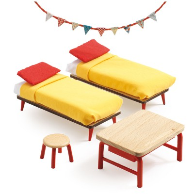 accessoire maison de poup es la chambre des enfants jeux et jouets djeco avenue des jeux. Black Bedroom Furniture Sets. Home Design Ideas