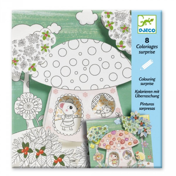 Coloriages Surprises : Poucette - Djeco-DJ09637