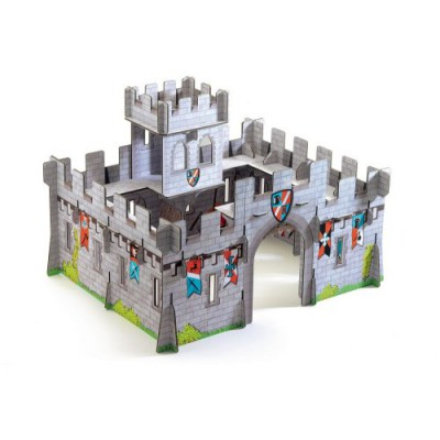Construction en carton 3d pop 39 n play ch teau m di val for Construction en 3d
