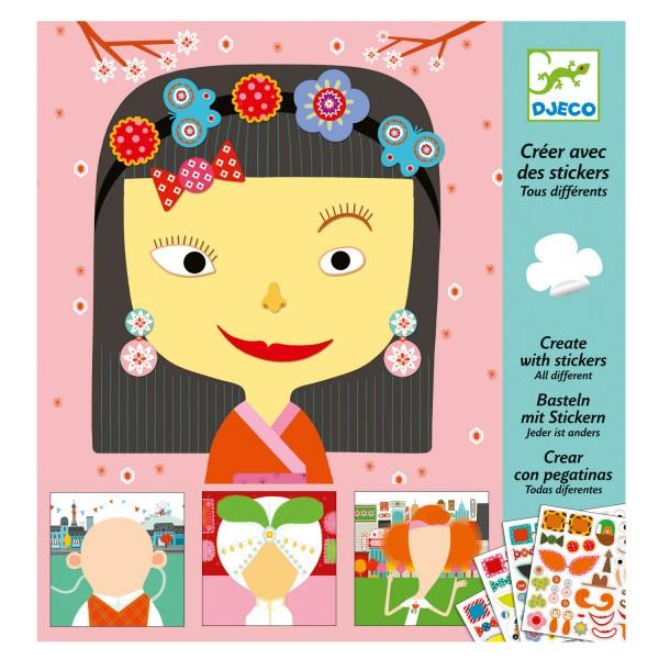 Cr er avec des stickers tous diff rents jeux et jouets - Creer son sticker mural ...