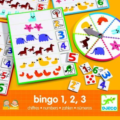 Eduludo Bingo chiffres 1, 2, 3 - Jeux et jouets Djeco - Avenue des Jeux