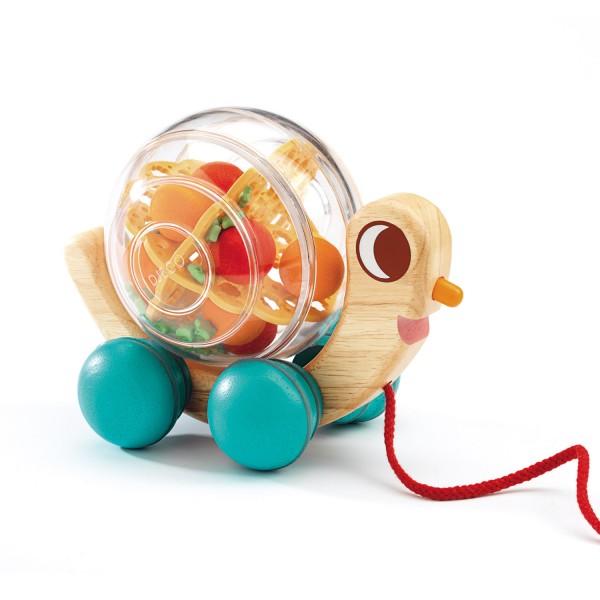Jouet tirer hugo l 39 escargot jeux et jouets djeco - Jeux de hugo l escargot ...