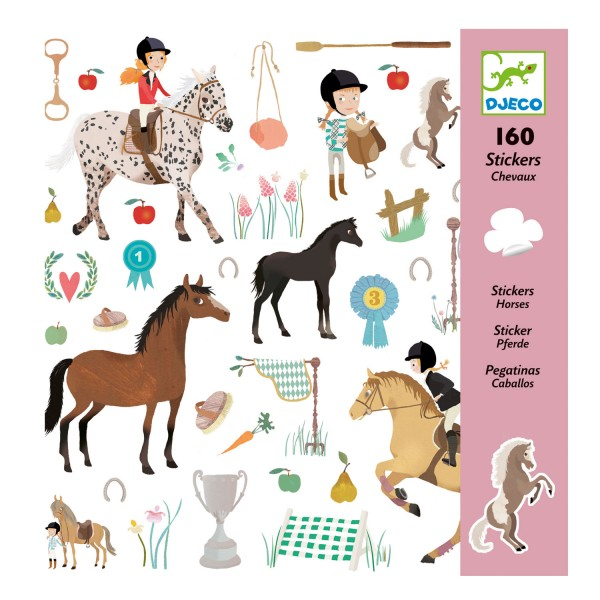 Stickers Chevaux - Djeco-DJ08881