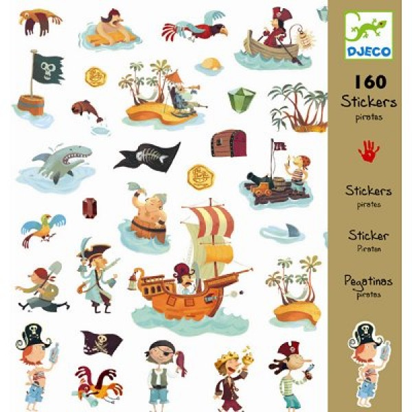 Stickers Pirates - Djeco-DJ08839