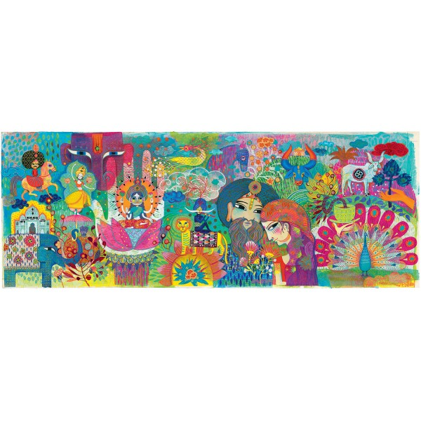 Puzzle 1000 pièces : Magic India - Djeco-DJ07649