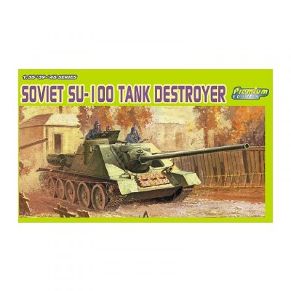 Maquette Char : Soviet SU-100 Tank Destroyer  - Dragon-6359
