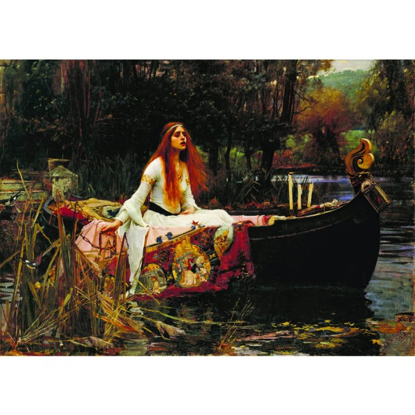 Puzzle 1000 pièces : John William Waterhouse : La Dame de Shalott - Dtoys-72757WA01