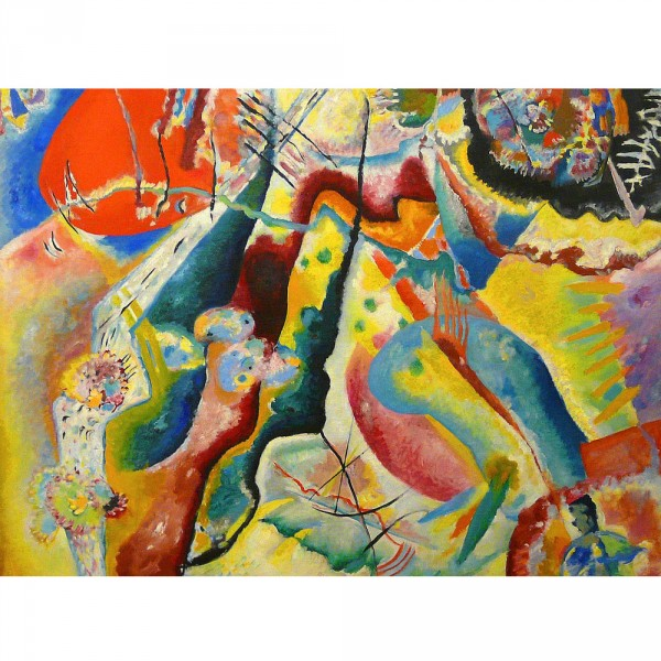 Puzzle 1000 pièces : Kandinsky : Painting with Red Spot - Dtoys-72849KA02