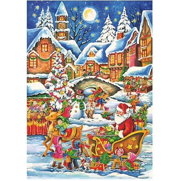 Puzzle 240 pièces - Christmas Collection : A bord du traineau - DToys-67647CH02
