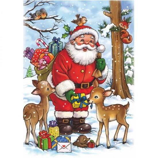 puzzle 35 pi ces christmas collection le p re no l et ses rennes puzzle dtoys rue des. Black Bedroom Furniture Sets. Home Design Ideas