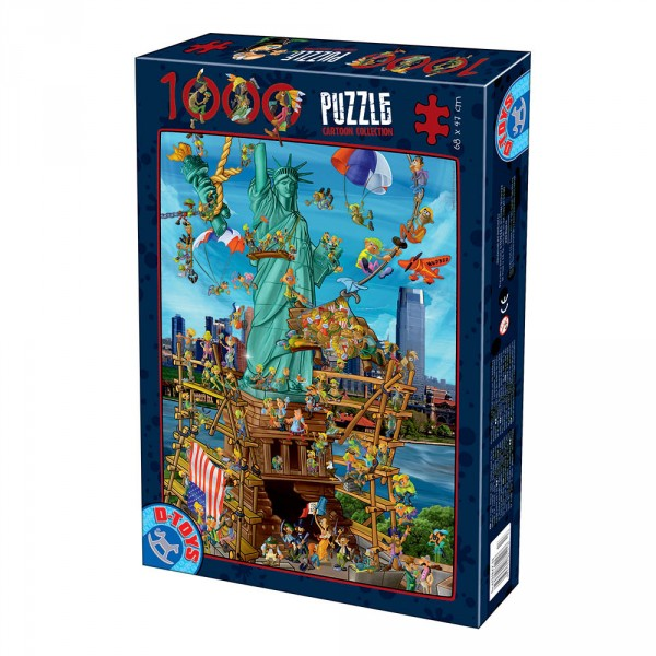 Puzzle 1000 pièces : Cartoon Collection : New York - Dtoys-61218CC13