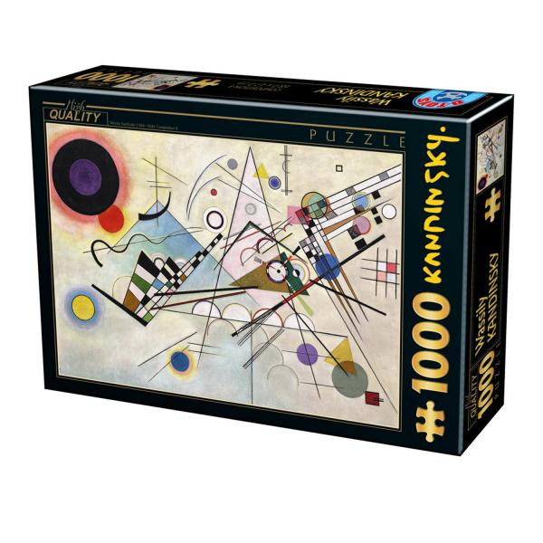 Puzzle 1000 pièces : Composition 8,  Wassily Kandinsky  - Dtoys-72849KA05