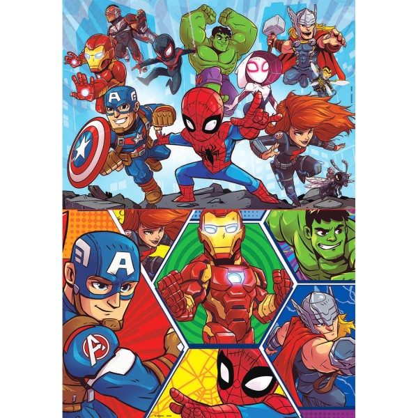 Puzzles 2 x 20 pièces : Marvel Super Heroes Adventures - Educa-18648