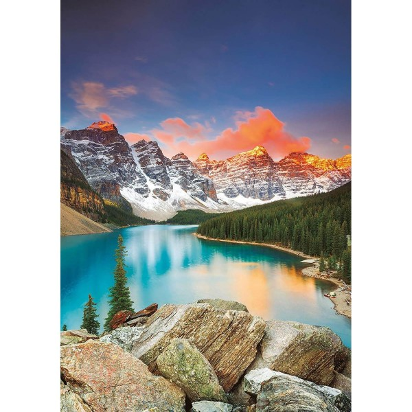 Puzzle 1000 pièces : Lac Moraine, Banff National parc, Canada - Educa-17739