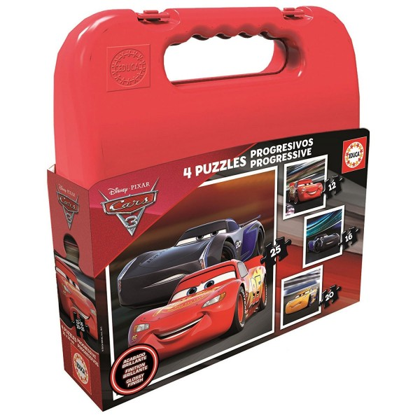 Malette Puzzles progressifs : Cars 3 - Educa-17175