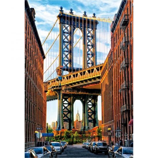 New York Manhatten: Puzzle 1000 Pièces : Pont De Manhattan, New York