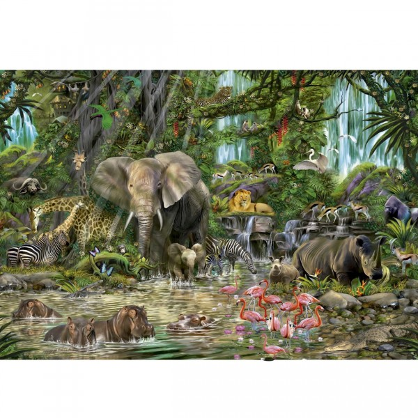 Puzzle 2000 pièces : Jungle africaine - Educa-16013
