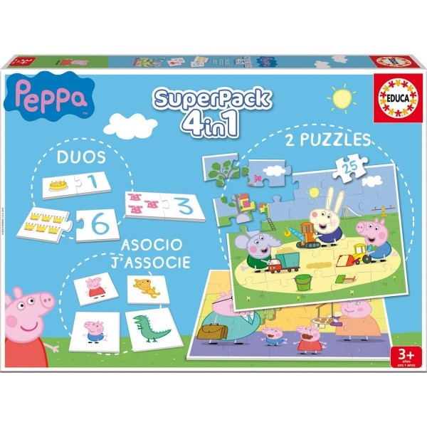 Superpack Peppa Pig : Duos, Puzzles, Association - Educa-16229