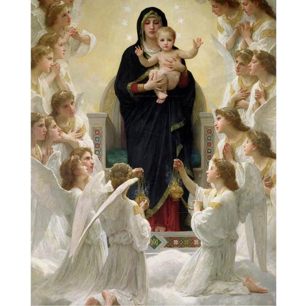 Puzzle 1000 pièces : William A. Bouguereau : Virgin with Angels - EuroG-6000-7064