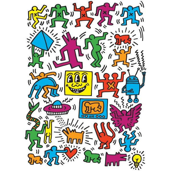 Puzzle 1000 pièces : Keith Haring : Collage - EuroG-6000-5513