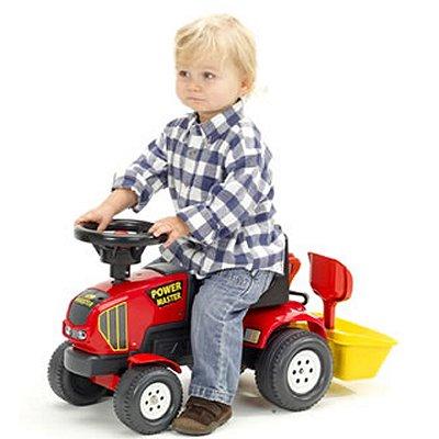 Tracteur rouge baby power master remorque et accessoires - Remorque tracteur enfant ...
