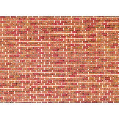 Mod lisme ho plaque de mur brique faller rue des for Construire mur en brique