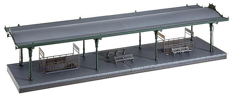 mod lisme ferroviaire ho quai de gare plm faller rue des maquettes. Black Bedroom Furniture Sets. Home Design Ideas