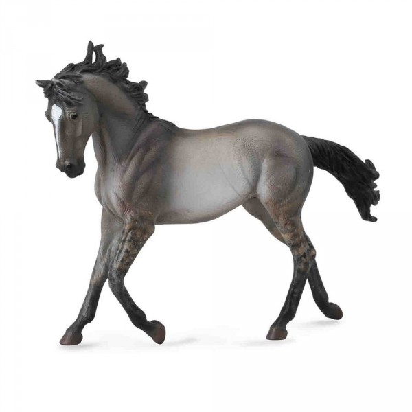 Figurine Cheval : Jument Mustang gris souris - Collecta-COL88544