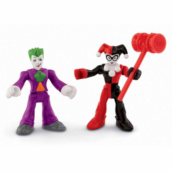 Figurines Imaginext DC Super Friends : Le Joker et Harley Quinn - FisherPrice-M5645-X7649