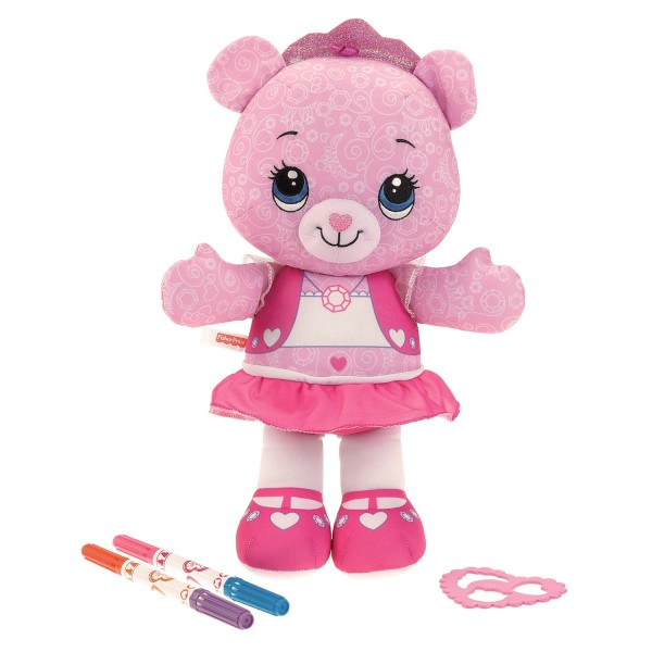 Peluche à colorier : Ourson Magicréa : Rose - Fisher-Price-W0375-W0376