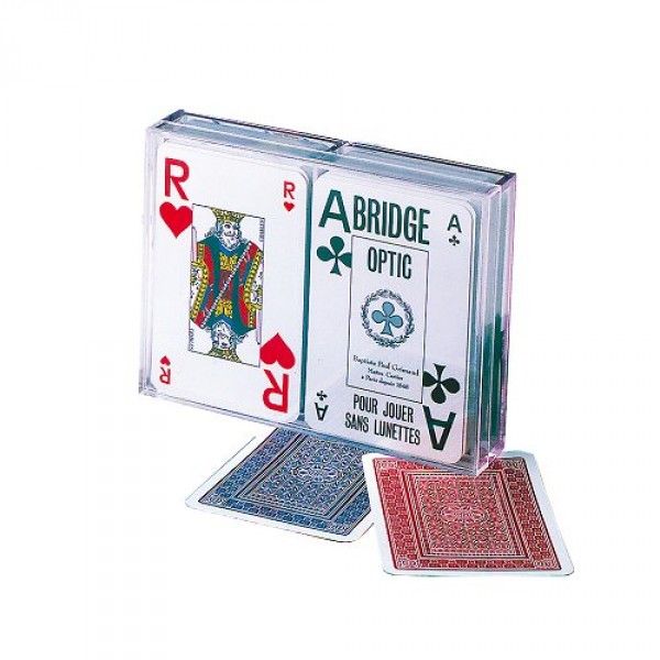 Jeu de 54 cartes Coffret Bridge Optic : Français - FranceCartes-390018