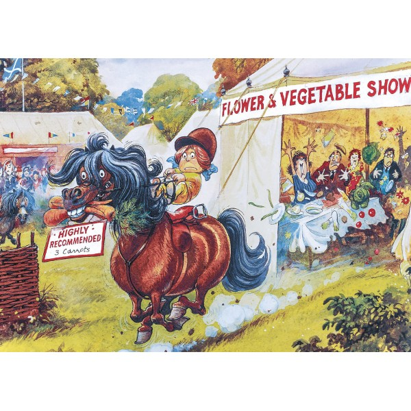 Puzzle 1000 pièces : Norman Thelwell : The Flower Show - Gibsons-G7077