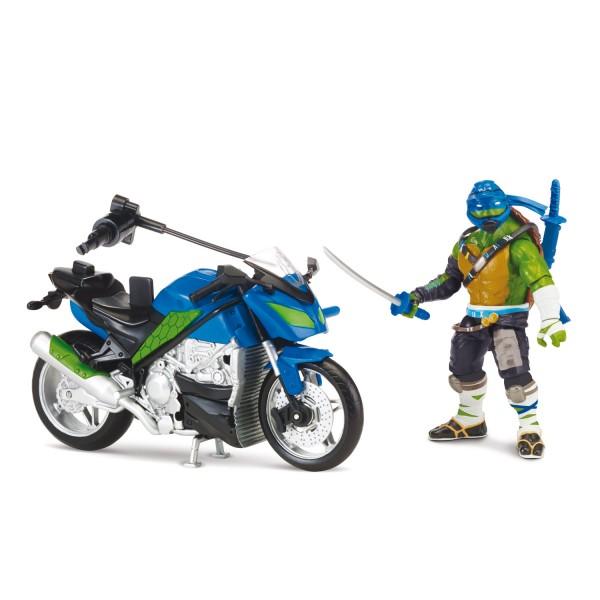 figurine vhicule tortues ninja 2 leonardo et son street speeder giochi tuv04