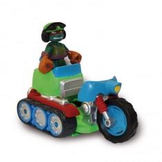 figurine tortues ninja vhicule half shell heroes tread cycle with tank commander raphael