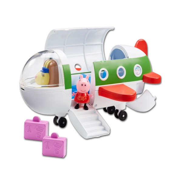 Peppa pig l 39 avion de peppa avec pilote jeux et jouets giochi preziosi avenue des jeux - Fusee peppa pig ...