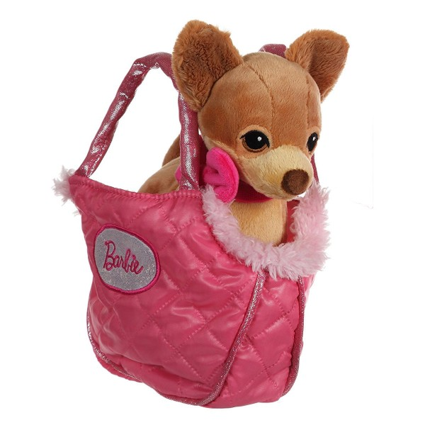 Peluche animal de compagnie Barbie dans sac : Chihuahua - Gipsy-54861-1