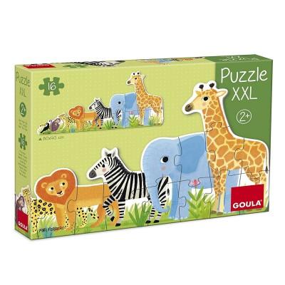puzzle xxl les animaux de la jungle jeux et jouets goula avenue des jeux. Black Bedroom Furniture Sets. Home Design Ideas