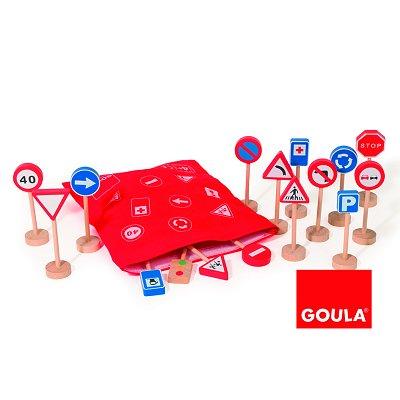 Sac Panneaux De Signalisation En Bois Jeux Et Jouets Goula