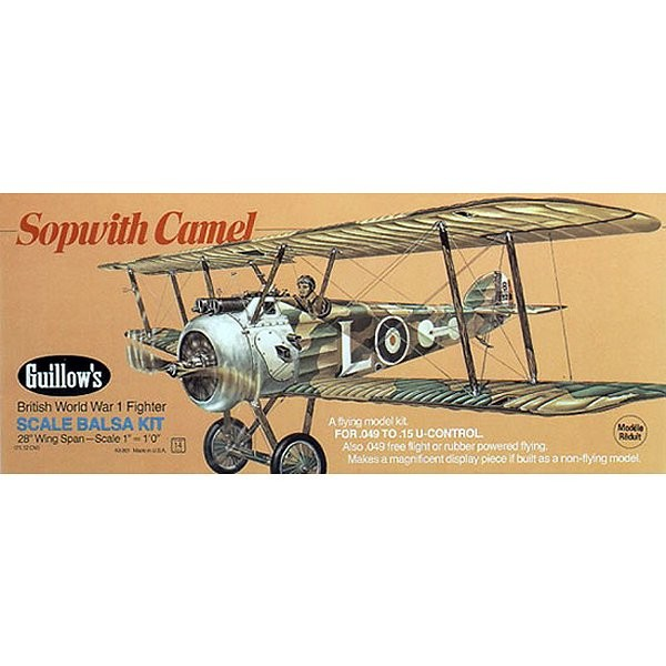 Maquette avion en bois : Spowitch Camel - Guillows-0280801