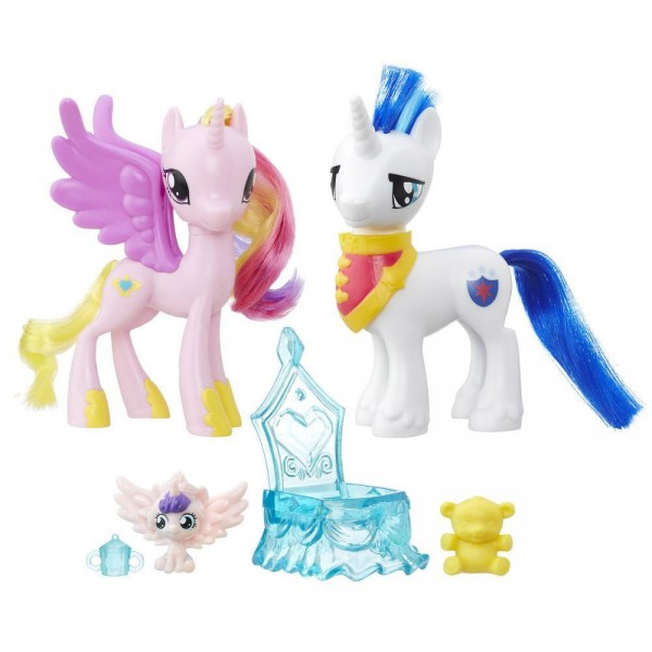 Figurine My Little Pony : Coffret Moments en famille : Princesse Cadence et Shining Armor - Hasbro-B9160-B9848