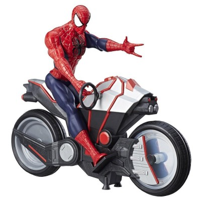 figurine spiderman 30 cm avec arachno moto hasbro b9767