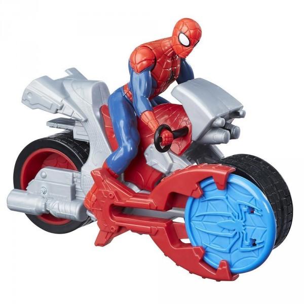 figurine spiderman blast n go spider man avec moto hasbro b9705
